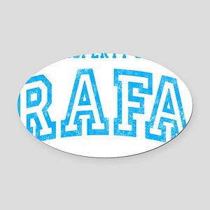 Rafa Prop Oval Car Magnet