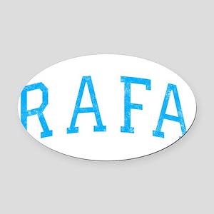 Rafa Prop -dk Oval Car Magnet