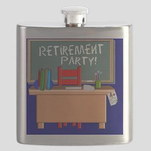 Teacher Retirement Invite CP NAVY BLUE Flask