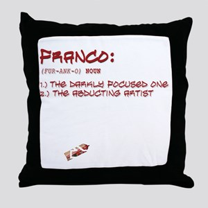 allwheresfrtext2 Throw Pillow