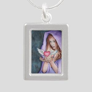LoveMagic Silver Portrait Necklace