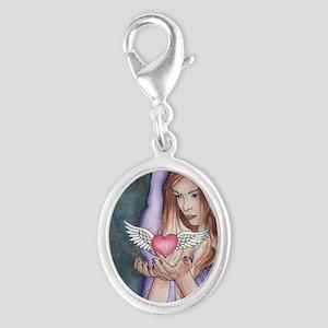 LoveMagic Silver Oval Charm