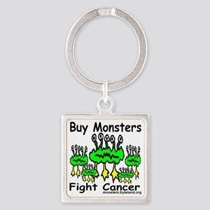 buy_monsters_fight_cancer_print Square Keychain
