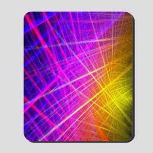 futuristic purple lines geometric abstra Mousepad