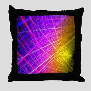 futuristic purple lines geometric abs Throw Pillow