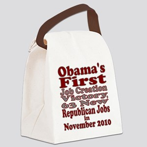 ObamasFirstVictory Canvas Lunch Bag