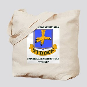 101st ab div 2nd Brigade Combat Team WITH Tote Bag