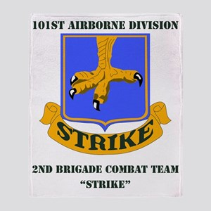 101st ab div 2nd Brigade Combat Team Throw Blanket
