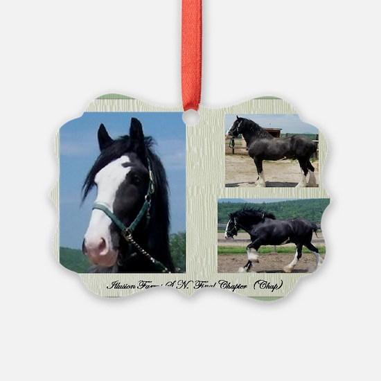 Beautiful Shire Draft horse Ornament