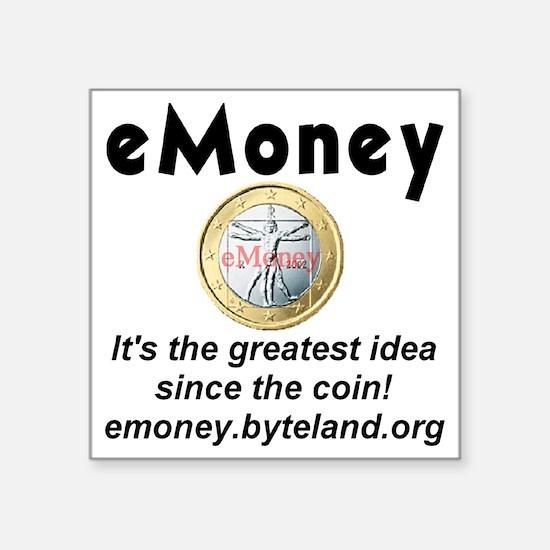 "emoney Square Sticker 3"" x 3"""