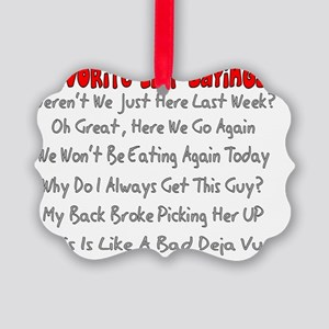 EMT Sayings Picture Ornament