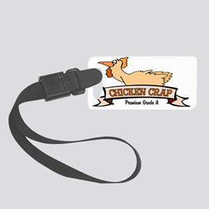 chicken_crap_01 Small Luggage Tag