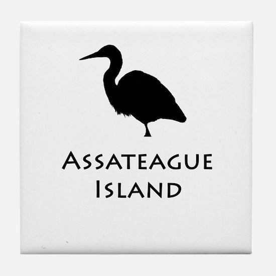 Assateague Island Heron Tile Coaster