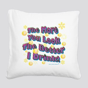 You Look dark tee Square Canvas Pillow