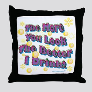 You Look dark tee Throw Pillow