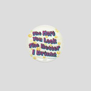 You Look dark tee Mini Button