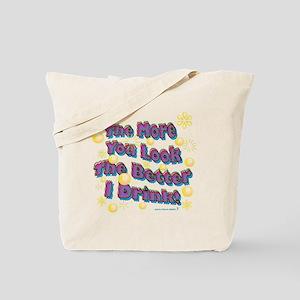 You Look dark tee Tote Bag