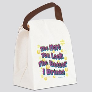 You Look dark tee Canvas Lunch Bag