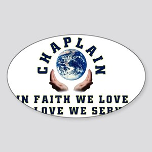 CHAPLAIN3 Sticker (Oval)
