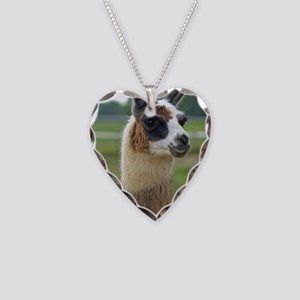 llama2_lp Necklace Heart Charm