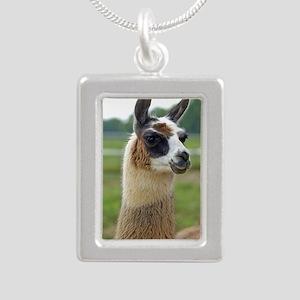 llama2_lp Silver Portrait Necklace