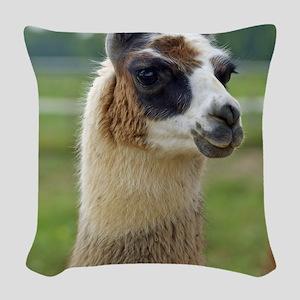 llama2_lp Woven Throw Pillow