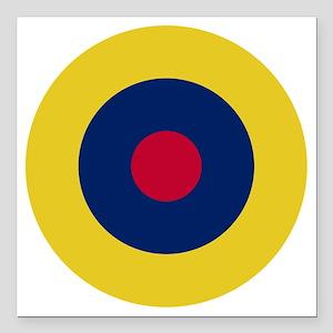 "RAF Roundel - Type B1 Square Car Magnet 3"" x 3"""