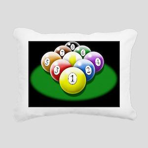 nine ball rack 6x4_card Rectangular Canvas Pillow