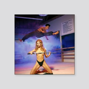 "Karate Angels (2) Square Sticker 3"" x 3"""