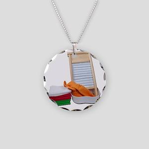 DoingLaundry112810 Necklace Circle Charm