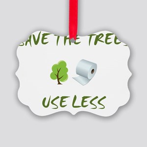 SaveTheTrees Picture Ornament