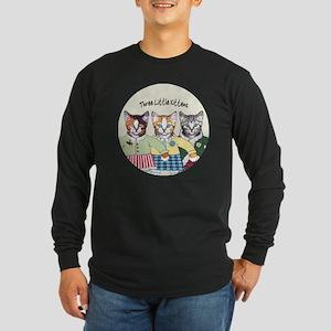 3 little kittens B - xmas Long Sleeve Dark T-Shirt