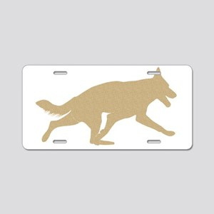 GSD_Trot_brown2a Aluminum License Plate