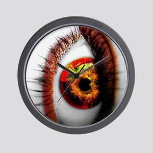 White Eye Ipad Case CoverTemplate Wall Clock