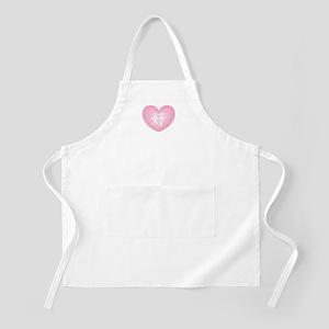 Kanji Like in Pink Heart BBQ Apron
