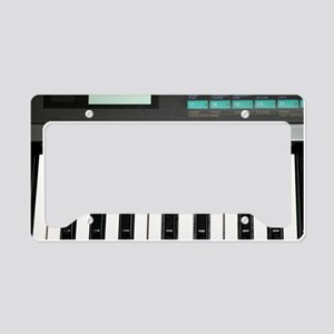 Keyboard License Plate Holder
