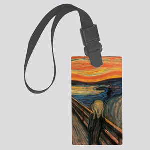 The_Scream_Poster Large Luggage Tag