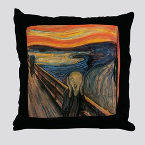 The_Scream_Poster Throw Pillow