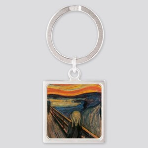 The_Scream_Poster Square Keychain