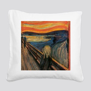 The_Scream_Poster Square Canvas Pillow