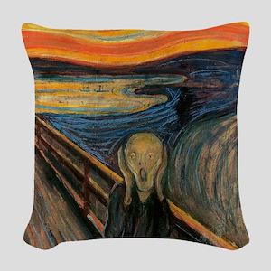 The_Scream_Poster Woven Throw Pillow