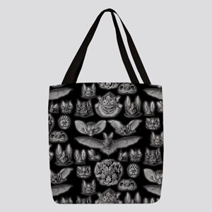 Vintage Bat Illustrations Polyester Tote Bag