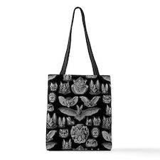 Vintage Bat Illustrations Polyester Tote Bag
