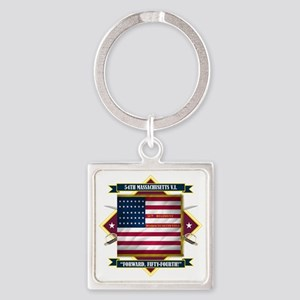 54th Massachusetts (Diamond) Square Keychain
