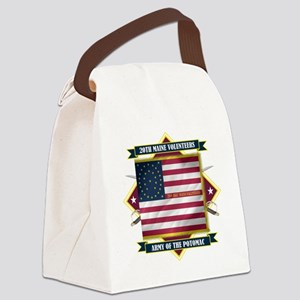 20th Maine (Diamond) Canvas Lunch Bag