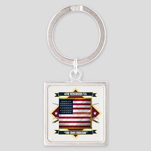 6th Wisconsin (Diamond) Square Keychain