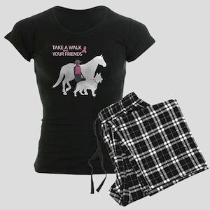 AwalkWithFriends Women's Dark Pajamas