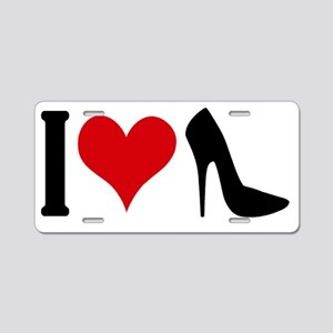 i-love-highheels Aluminum License Plate