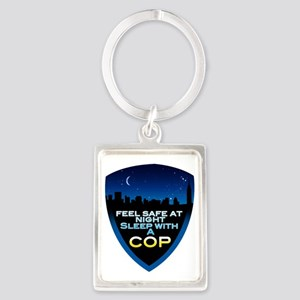 cop1 Portrait Keychain