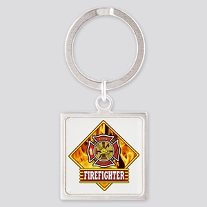Fire Fighter II Square Keychain